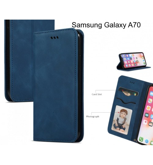 Samsung Galaxy A70 Case Premium Leather Magnetic Wallet Case