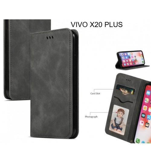 VIVO X20 PLUS Case Premium Leather Magnetic Wallet Case