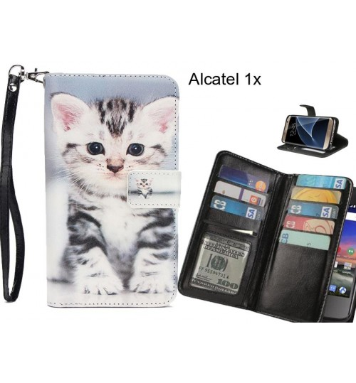 Alcatel 1x case Multifunction wallet leather case
