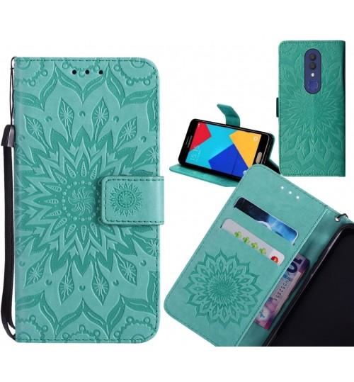 Alcatel 1x Case Leather Wallet case embossed sunflower pattern