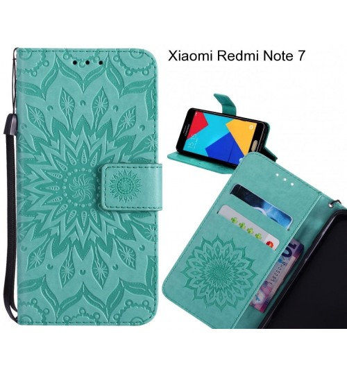 Xiaomi Redmi Note 7 Case Leather Wallet case embossed sunflower pattern