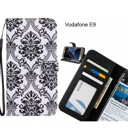 Vodafone E9 case 3 card leather wallet case printed ID