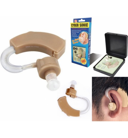 Cyber Sonic Hearing aid Sound Amplifier Volume Adjustable Behind The Ear
