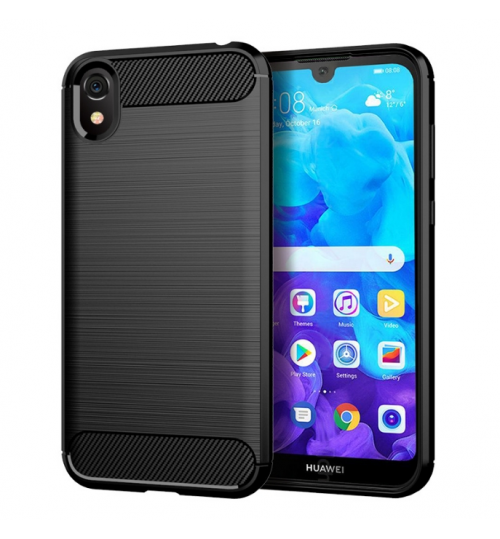 Huawei Y5 2019 Case Shockproof Carbon Fiber Case