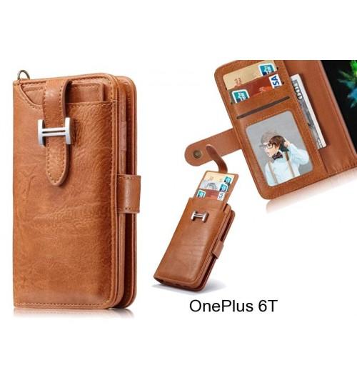 OnePlus 6T Case Retro leather case multi cards cash pocket