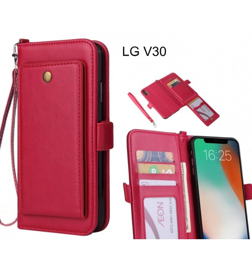 LG V30 Case Retro Leather Wallet Case