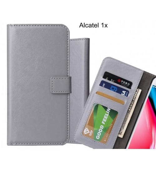 Alcatel 1x case Fine leather wallet case