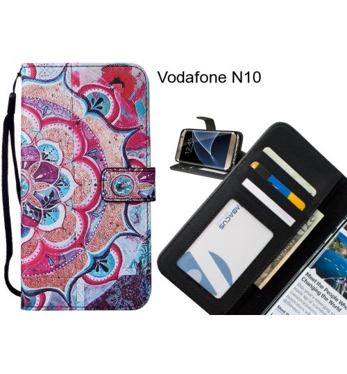 Vodafone N10 case 3 card leather wallet case printed ID