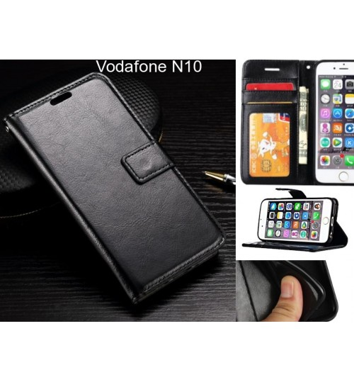 Vodafone N10 case Fine leather wallet case