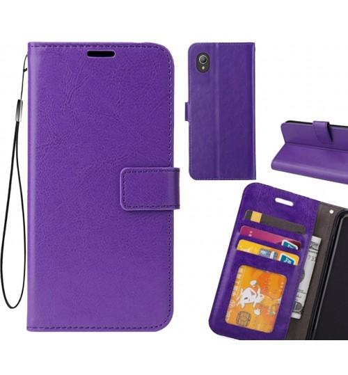 Vodafone E9 case Fine leather wallet case