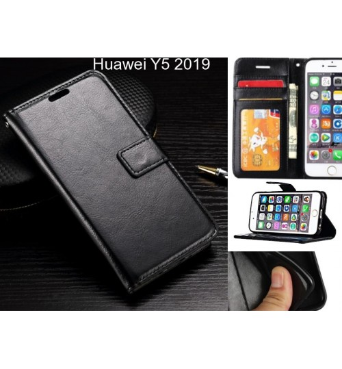 Huawei Y5 2019 case Fine leather wallet case