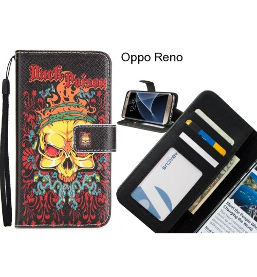Oppo Reno case 3 card leather wallet case printed ID