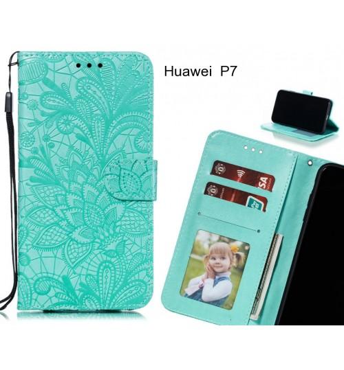Huawei  P7 Case Embossed Wallet Slot Case