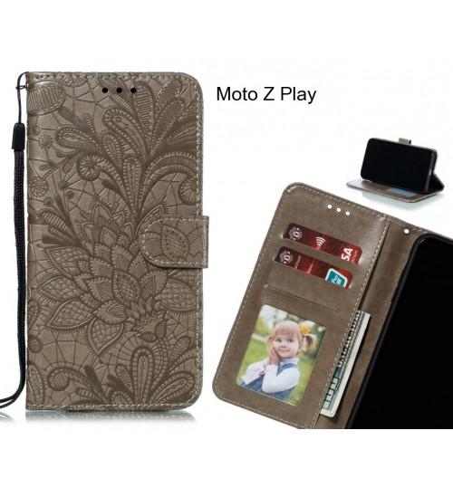 Moto Z Play Case Embossed Wallet Slot Case