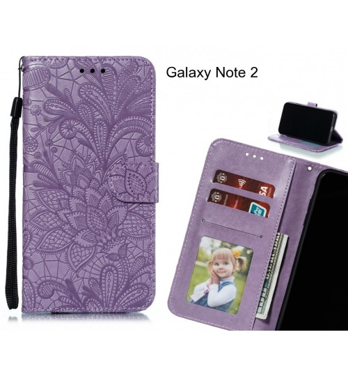 Galaxy Note 2 Case Embossed Wallet Slot Case