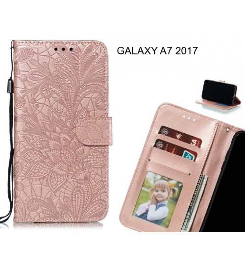 GALAXY A7 2017 Case Embossed Wallet Slot Case