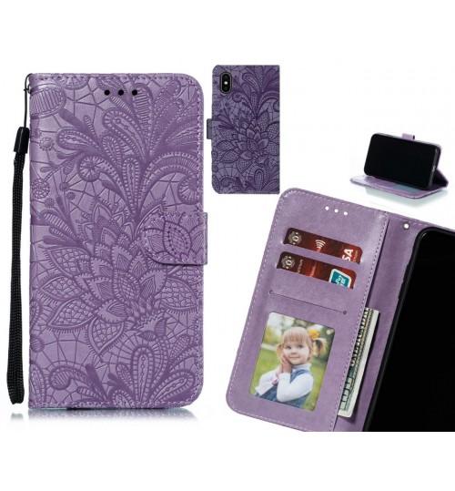 iPhone X Case Embossed Wallet Slot Case