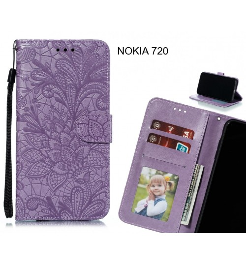 NOKIA 720 Case Embossed Wallet Slot Case