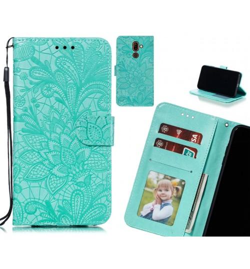 Nokia 7 plus Case Embossed Wallet Slot Case