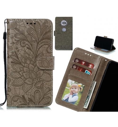 MOTO G6 PLAY Case Embossed Wallet Slot Case