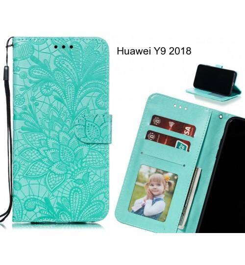 Huawei Y9 2018 Case Embossed Wallet Slot Case
