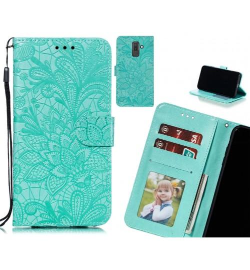 Galaxy J8 Case Embossed Wallet Slot Case