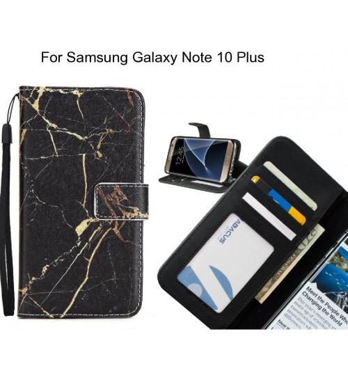 Samsung Galaxy Note 10 Plus case 3 card leather wallet case printed ID