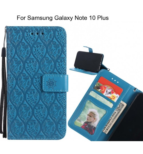 Samsung Galaxy Note 10 Plus Case Leather Wallet Case embossed sunflower pattern
