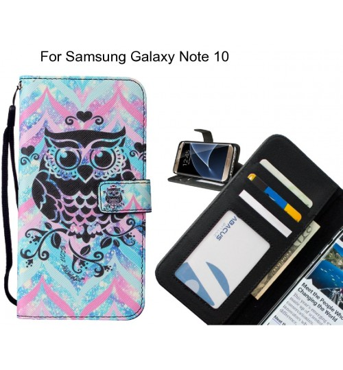 Samsung Galaxy Note 10 case leather wallet case printed ID
