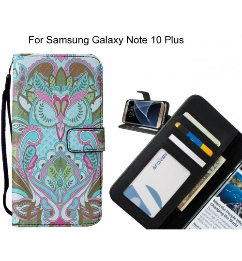 Samsung Galaxy Note 10 Plus case leather wallet case printed ID