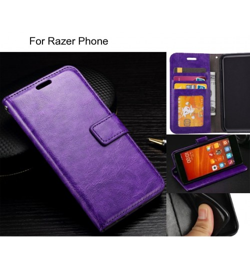 Razer Phone case Fine leather wallet case
