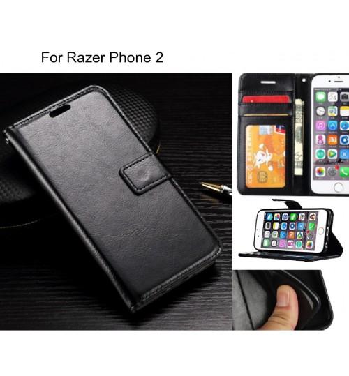 Razer Phone 2 case Fine leather wallet case