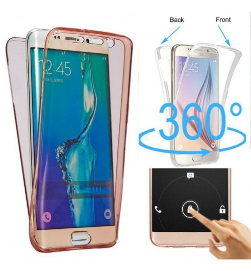 Galaxy S8 2 piece transparent full body protector case