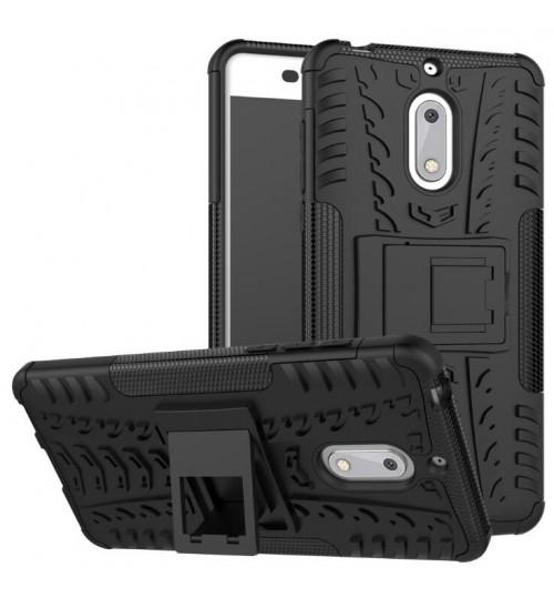 Nokia 6 Case Heavy Duty Kickstand combo