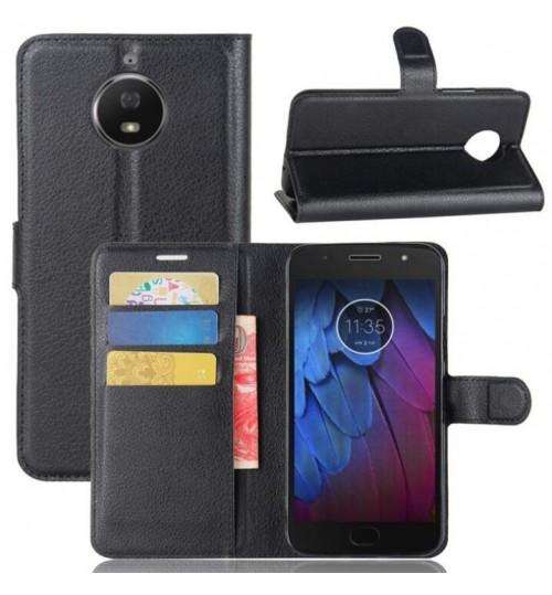 Moto G5S Case Leather Wallet Cover+Pen