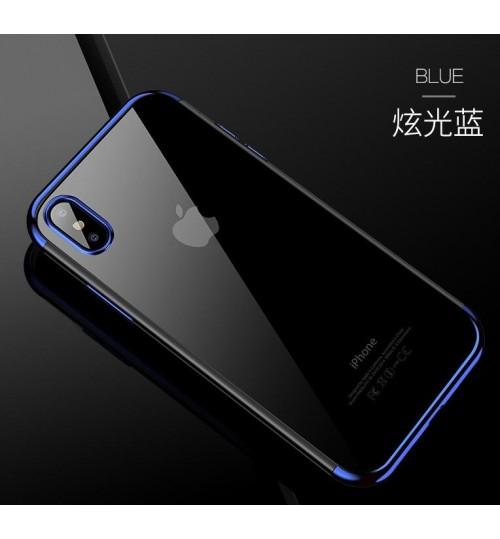 iPhone XS Max case bumper w clear gel back cover