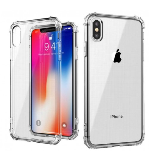 iPhone XR Shockproof Bumper Transparent Silicone Case Cover