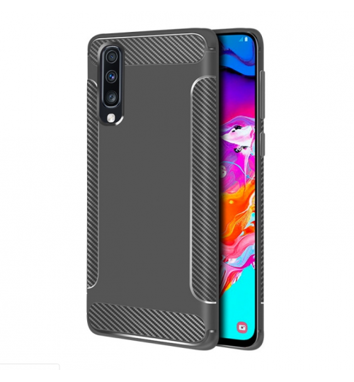 Samsung Galaxy A20 case rugged case with carbon fiber