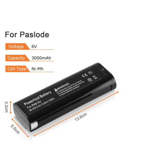 Paslode Replacement Battery 6V 3000 mAh