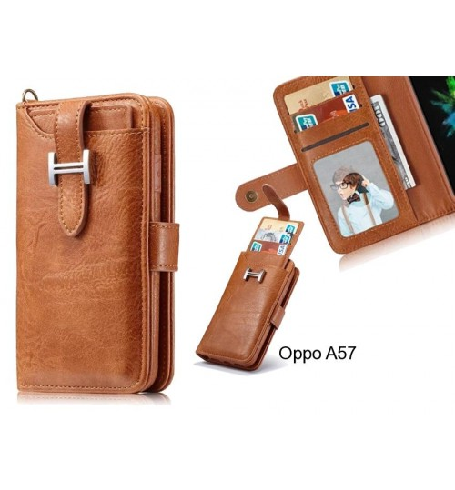 Oppo A57 Case Retro leather case multi cards cash pocket