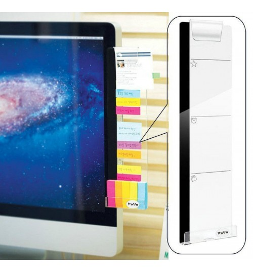 Monitor memo board Acrylic Message Boards Sticky Holder