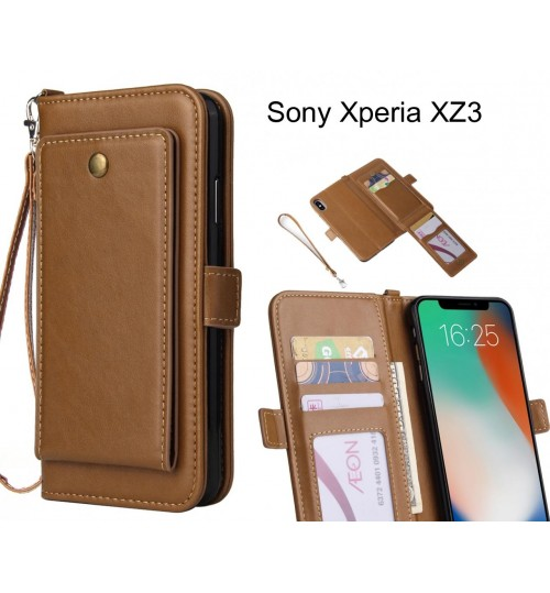 Sony Xperia XZ3 Case Retro Leather Wallet Case
