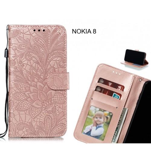 NOKIA 8 Case Embossed Wallet Slot Case