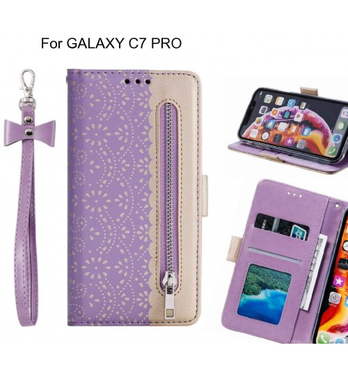 GALAXY C7 PRO Case multifunctional Wallet Case
