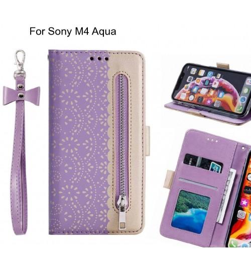 Sony M4 Aqua Case multifunctional Wallet Case