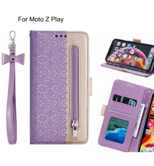 Moto Z Play Case multifunctional Wallet Case