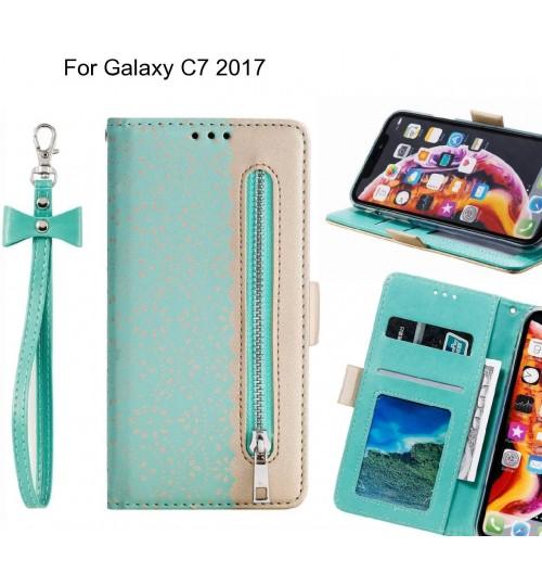Galaxy C7 2017 Case multifunctional Wallet Case