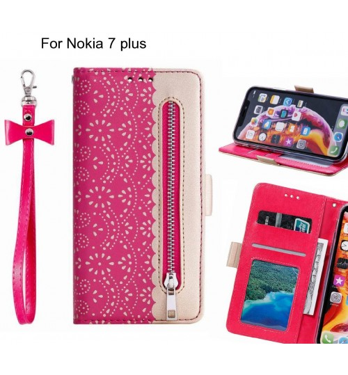 Nokia 7 plus Case multifunctional Wallet Case