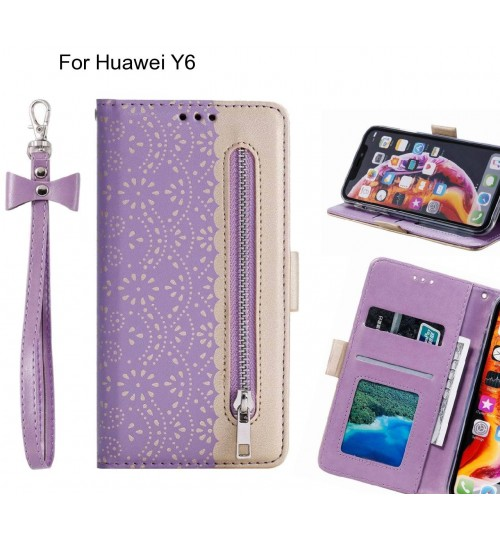 Huawei Y6 Case multifunctional Wallet Case