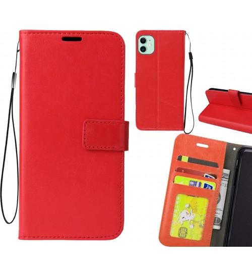 iPhone 11 case Fine leather wallet case